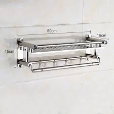 bath towel hanger. 1 Pc Stainless Storage Steel Bath Towel Rack Folding Holder Hanger Organizer Wall Mounted Shelf