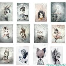 Nordic Cartoon <b>Rabbit Animal</b> Canvas Wall Poster Paintings Home ...
