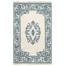 home decorators collection filigree aubusson blue 5 ft x 8 ft area rug