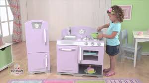 Kid Craft Retro Kitchen Kidkraft Retro Kitchen Refrigerator Lavender 53290 Youtube