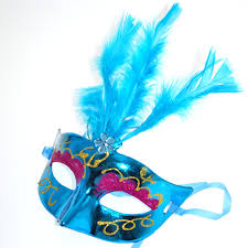 Mask Decorating Supplies 100pcslot Multi Color Halloween LED feather Mask party flash mask 4