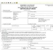 Blank Certificate Of Origin Template Blank Certificate Of Origin