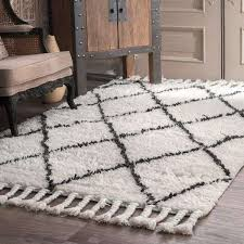 luxury plush area rugs for living room of nuloom hand knotted moroccan trellis natural wool rug 9 x 12