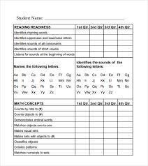Report Card Sample Under Fontanacountryinn Com