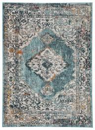 famous maker pedrine kyan prd 1110 teal gold area rug