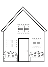 Small Picture House Coloring Page fablesfromthefriendscom