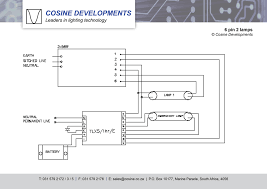wiring diagrams 6 pin 2 lamps wiring diagram cosine developments emergency lighting south africa durban