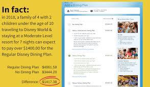 dining plan cost disney free dining