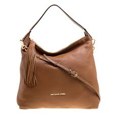 michael michael kors brown leather bedford tassel shoulder bag nextprev prevnext