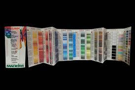 Madeira Embroidery Thread Colour Chart Madeira Classic Rayon Product Info Colour Card Tajima