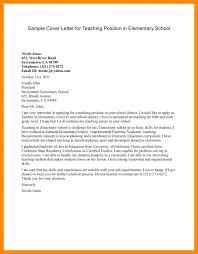 Cover Letter For Teaching Job Fresher Sample Bunch Ideas Of Resume