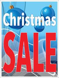 Sale Signs Posters 22 X 28 Christmas Sale Blue Bulbs