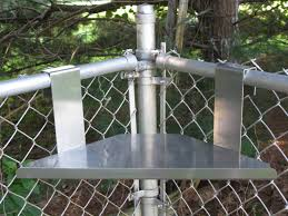 shelves in chain link fence google search
