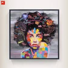 neue graffiti street wandkunst abstrakte moderne afrikanische frauen portrait leinwand lgem lde auf drucke f r wohnzimmer on african woman wall art with new graffiti street wall art abstract modern african women portrait