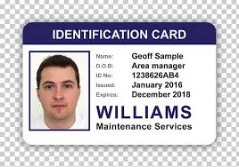Company Id Card Template Identity Document Photo Identification Security Hologram
