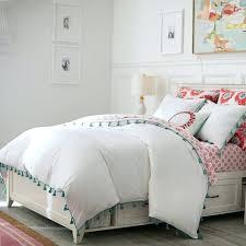 white tassel duvet cover king classic cotton round bed hotel bedding set new taste linens tassels magical thinking net