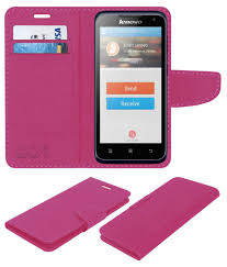 Lenovo A526 Flip Cover by ACM - Pink ...