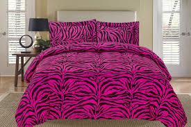 zebra pink and black down alternative comforter set king