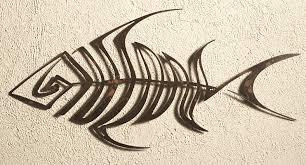 bone fish wall art outdoor decor by elizabeth keith