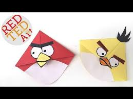 angry birds crafts easy bookmark corners with mice s cuties angry bird bookmark