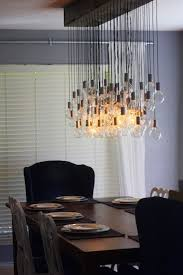 diy dining room lighting ideas. Diy Dining Room Light - Comes With A Tutorial. How About Using Reclaimed Wood, And Rethink Recycled Glassware To Surround The 8 Working Bulbs. Lighting Ideas R