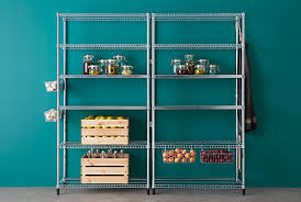 OMAR shelving units are perfect for your pantry or other small spaces. Made  of stainless