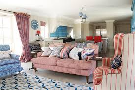 decor red blue room full: red white and blue living room this space plays off the american flag to create a fun colorful area by