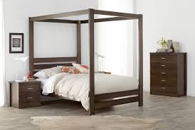 Solid Wood Bedroom Suites Springwood Dark Four Poster Wood Grain Bedroom Furniture Suite