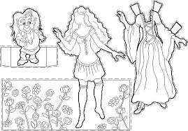 Small Picture Coloring pages for kids to print Coloring page princessDress