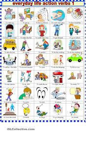 everyday life action verbs coisas escolares everyday life action verbs 1