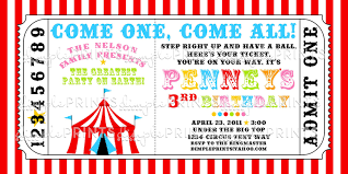 Printable Carnival Tickets Circus Tent Ticket Printable Invitation Dimple Prints Shop