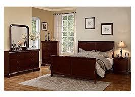 affordable bedroom sets.  Affordable Poundex Cherry Louis Phillipe Bedroom Set In Affordable Sets O