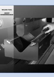 Wilson Tool Die Clearance Chart High Precision Trumpf Style Tooling Catalog Wilson Tool