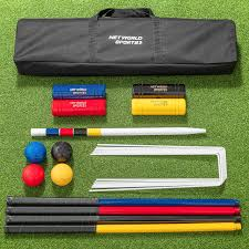 croquet set with hardwood croquet mallets