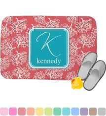 c teal memory foam bath mat personalized