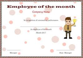 Free Employee Of The Month Certificate Template Gorgeous Elegant And Funny Employee Of The Month Certificate Templates Free