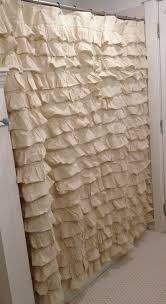 gorgeous cream ruffled shower curtain country cottage shabby chic home decor on
