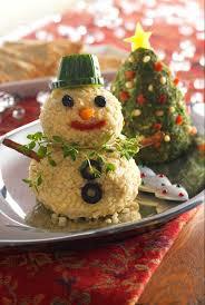 Christmas Tree and Snowman Cheese Balls