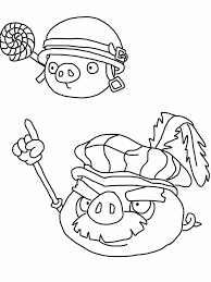 Printable Angry Birds Epic Coloring Page Pigs Free Coloring Book