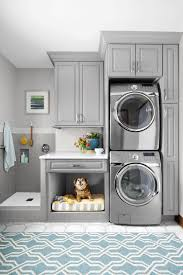 kitchen laundry room cabinets laundry. Laundry Room With Stacked Washer And Dryer, Plus Built In Dog Bed. Love The Grey Cabinets. A Simple Rearrangement Of Task Areas Takes Advantage Vertical Kitchen Cabinets O