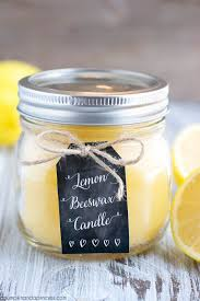 diy lemon beeswax candle