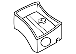eraser clipart black and white. coloring page pencil sharpener - img 19252. eraser clipart black and white