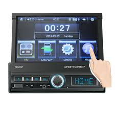 leshp 7020g 7 inch touch screen car bluetooth audio stereo mp5 player with rearview camera gps navigation fm function and remote