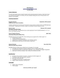 Coaching Resume Cover Letter Head Coach Resume Samples Database For