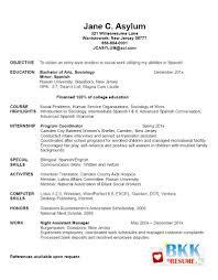 Recent College Grad Resume Samples Resume Resume Sample For New Graduate Economiavanzada Com