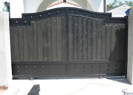 decorative wooden iron security gate iron gates with wood n89