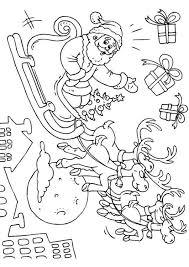 Kleurplaat Kerstman In Slee Afb 23379 Images