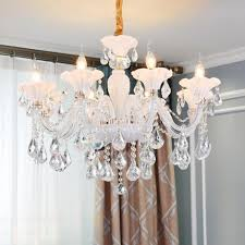 contemporary led crystal chandelier lights european style drop lights white living room dinning room led glass chandelier lamps pendant track lighting