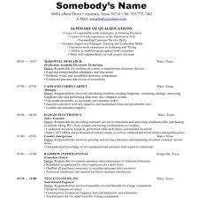 Resume Template Free Chronological Resume Template Free Career