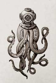 Diver Octo By Maria Tiurina Via Behance Sketches Inkoust Na